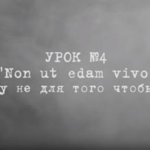 Non ut edam vivo (Я живу не для того, чтобы есть)